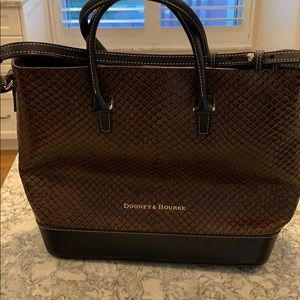 Large brown snake pattern Dooney & Bourke